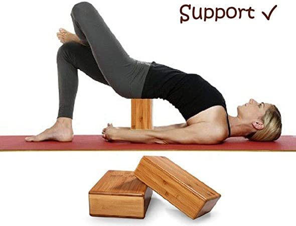Amazon.com: Wooden-Life bloque de yoga de bambú, bloque de ...