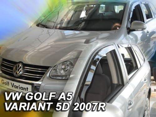 Heko Z902077 Windabweiser Regenabweiser Für Golf A5 5 07 Variant Kombi 5türer Für Vorne Und Hinten Auto