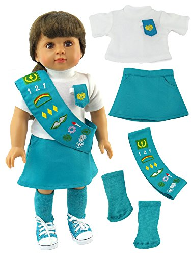 "18 Inch Doll Clothes - Junior Girl Scout Outfit | Fits 18"" American Girl Dolls 