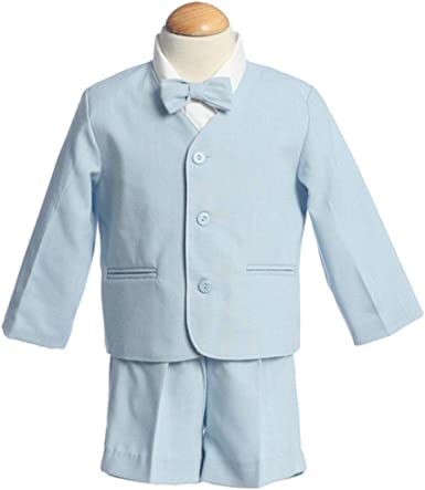 Lito Easter Ring Bearer Light Blue Seersucker Suit Toddler Boys 2T