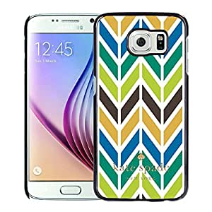 Unique Custom Designed Kate Spade Cover Case For Samsung Galaxy S6 Black Phone Case 235