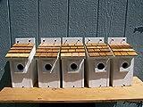 White Bluebird Houses 5 Cedarnest Cedar Shake Roof