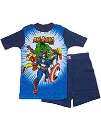 MARVEL Avengers Boys Size 8 Amazing Heroes Pajama Shorts Set