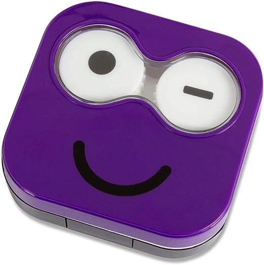 Balvi Estuche lentillas Emoji Color púrpura Caja para lentillas, diseño Divertido Emoji Verde portalentillas Original Hombres y Mujeres Plástico 2x6,5x6,7 cm: Amazon.es: Hogar