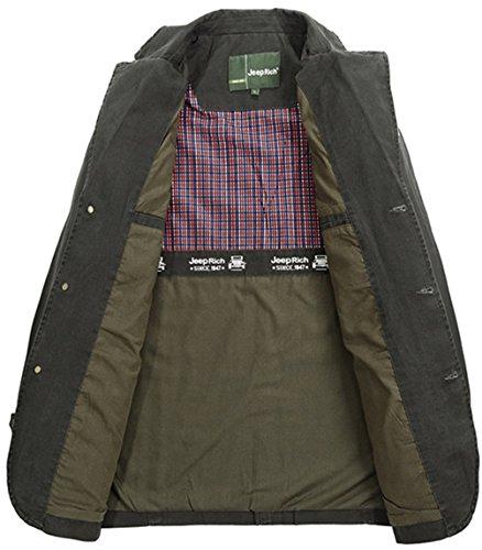 Classique Veste Militaire Col Verte Automne Printemps Collar Multi Blousons Z6m6 Coton Jacket Homme Costume Coat poches Bombardier Men's Suit De Armée Military Manteaux P8qwt