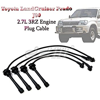Ignition Lead Spark Plug Wire Cable 8mm For Toyota LandCruiser Prado 90 2.7L 3RZ
