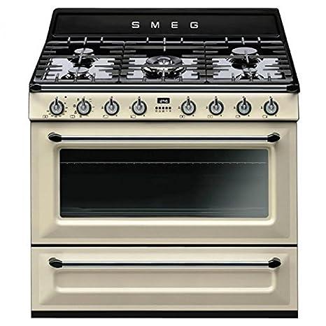 Smeg TRI90P1 Libera installazione Gas hob B Crema cucina: Amazon ...