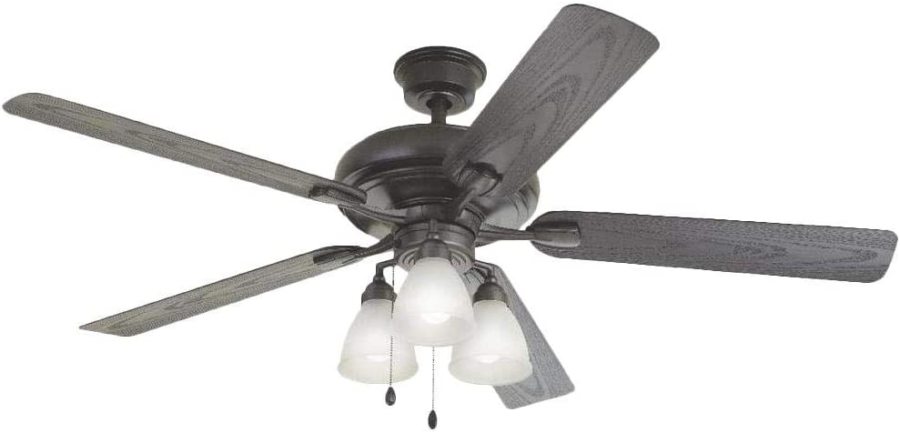 Home Decorators Collection YG475-NI Trentino II 60 Inch LED Indoor and Outdoor Natural Iron Ceiling Fan