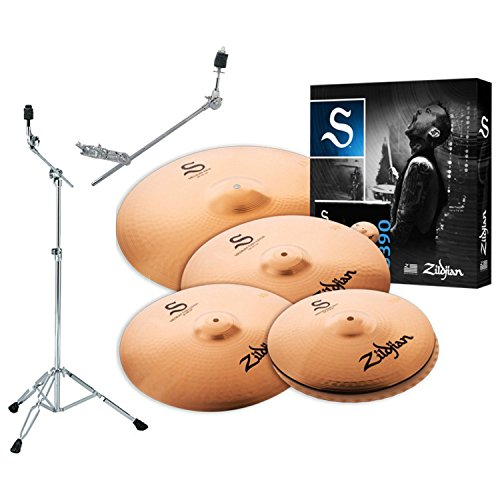 Zildjian S390 S Performer Cymbal Box Set w/ Stand and Grabber Arm