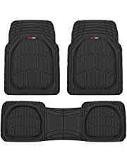 Motor Trend FlexTough Contour Liners-Deep Dish Heavy Duty Rubber Floor Mats for Car SUV Truck & Van-All Weather Protection