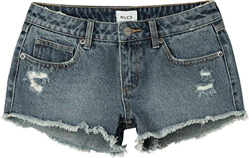 ARTFFEL-Women Skull Print Washed Fashion Summer Low Waisted Denim Shorts Jeans