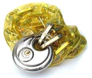 Toolzone 182,88 cm x 10 mm revestido de PVC candado de disco con colgante de cadena y candado juego de