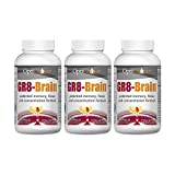 Optichoice® Gr8- Brain® - Doctor Recommended and Formulated - Ultimate Formula with Eight Clinically Tested Brain Health Ingredients. - Made in USA - 325mg – 180 Capsules/softgels (3 Pack)