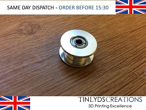 GT2 Idler Pulley, Smooth 20 teeth 3mm Bore for 6mm wide belt 3D PRINTER PART tinlydscreations