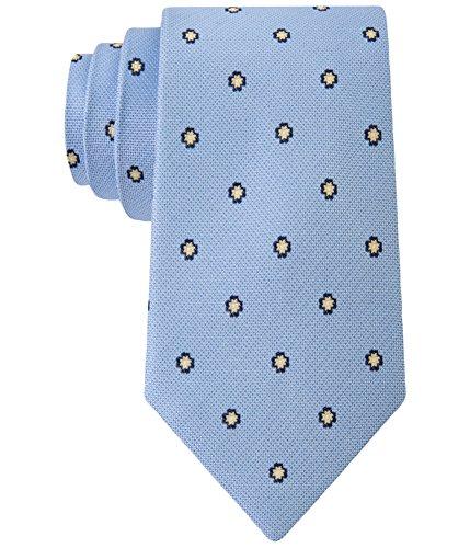 Club Room Men's Neat Floral-Print Classic Silk Tie (Blue) Club Room Mens Silk Tie
