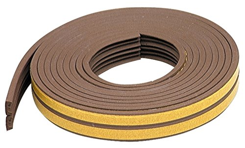 M-D Building Products 02592 M-D Self-Adhesive K-Profile All Climate Weather-Strip Tape, 17 Ft L X 3/8 in W 1/8 in T, Brown