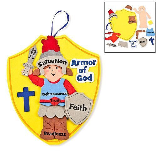 Fun Express Armor of God Kids Craft Kit (1 Dozen) (Sunday School Crafts)