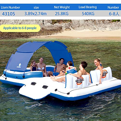 KIKBLW Adult Swimming Floating Row, Marine Paradise Chair Floating Row Floating Bed Floating Summer Rest Adult Children Water Toys by KIKBLW (Image #3)
