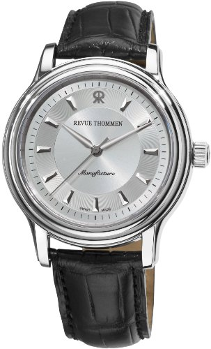 Revue Thommen Men's 12200-2538 Automatic Classic Analog Display Swiss Automatic Black Watch