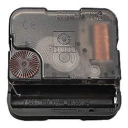 Vangold Quartz Wall Clock Movement Mechanisms Battery Powered Clock Kit for DIY Clock Replacement(2-Year Warranty) (Black)