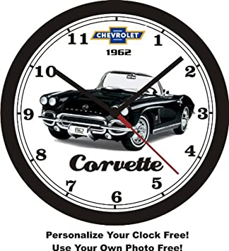 1962 CHEVROLET CORVETTE WALL CLOCK-Free USA Ship