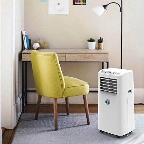 JHS BTU Air Portable AC Unit, A019-8KR/A Remote Control Small Air Cooler Dehumidifier with Timer, and Speed
