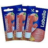 Labello Peach Shine Lip Balm 4.8g/5.5ml - 3 Pack