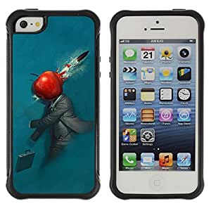 Hybrid Anti-Shock Defend Case for Apple iPhone 4s 4s Abstract Apple
