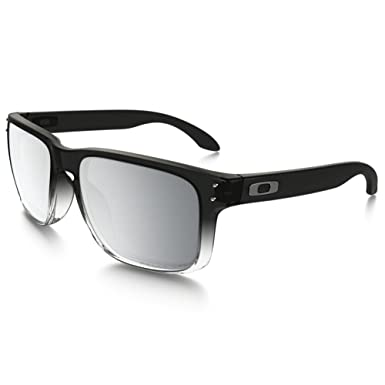 oakley sunglasses amazon  oakley holbrook sunglasses, dark ink fade/chrome iridium polarized, one size