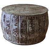 Round Metal Drum Coffee Table Designe Gallerie DG-IADT-41385 L Blayze Drum Table Coffeetable, Blue