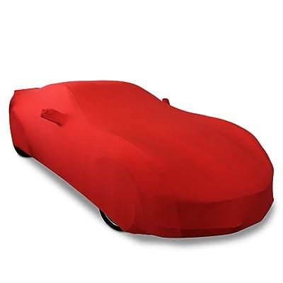 2014-2020 C7 Stingray, Z51, Z06, Grand Sport Corvette Ultraguard Stretch Satin Indoor Car Cover (Red): Automotive