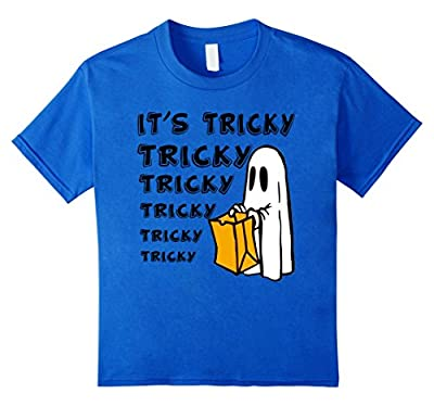 Tricky Boo Ghost Funny Halloween T Shirt for Kids Women
