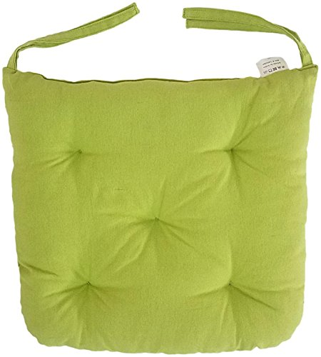 "Price comparison product image Melange 100% Cotton Round Square 16"" x 16"" Chair Cushions,  Set of 4"