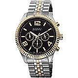 August Steiner Women's AS8096TTG Analog Display Swiss Quartz Two Tone Watch