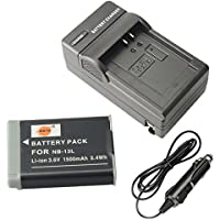 DSTE NB-13L Battery + DC161 Travel and Car Charger Adapter for Canon PowerShot G5X G7X G9X G7 X Mark II G9X Mark II SX620 HS SX720 HS SX730 HS Digital Camera as NB13L