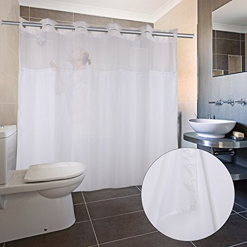 Hookless Shower Curtain With Removed Fabric Inner Liner 70