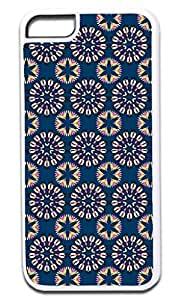 Floral Mandalas- Case for the APPLE IPHONE 6 ONLY!!! NOT COMPATIBLE WITH THE IPHONE 6 PLUS!!!-Hard White Plastic Outer Case with Tough Black Rubber Lining