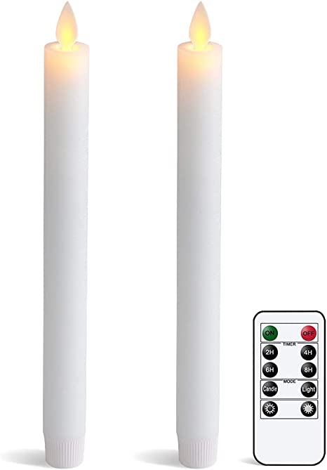 "2 Pack 9/"" Luminara Flamesless Candles Led Taper Battery Operated Votive Candle"