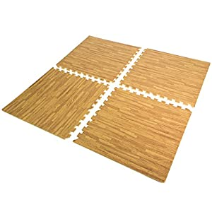 XtremepowerUS Interlocking Eva Foam, Wood Grain, 16 SQ.FT