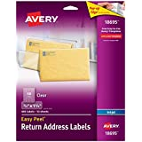 "Avery Clear Easy Peel Return Address Labels 2/3"" x 1-3/4"", Pack of 600 (18695)"