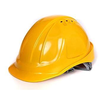 FH Casco de seguridad, casco de seguridad de construcción de la ventilación del ABS del líder del emplazamiento de la obra (Color : Amarillo): Amazon.es: ...