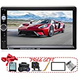 Yakalla Double Din Car Stereo in-Dash Compatible with Bluetooth Touch Screen 7 inch with Rear-View Camera,Video MP5/4/3 Player, Radio FM, Car Stereo Receiver, Mirror Link, Caller ID
