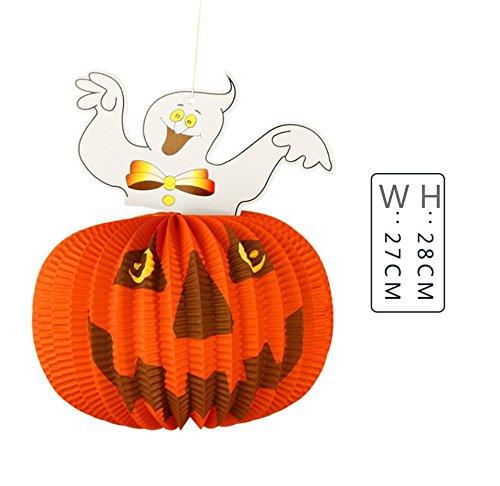 WEIYI 5 pcs Funny DIY Halloween Outdoor Decorations Ghost Pumpkin Paper -