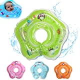 Swimming Baby Infant Swimming Pool Bath Neck Floating Inflatable Ring Built-in Belt