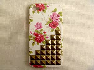 Morechoice Handmade Floral Iphone 4/4s Case with Bronze Pyramid Studs