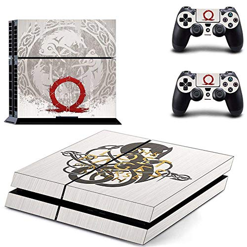 God Of War PS4 Console Skins - Kratos GOW PS4 Controller Sticker Vinyl Decal for Playstation 4 and 2 Controller by LP Chiel
