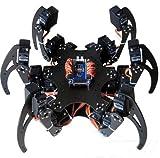 QX Electronics 1Set Six 3DOF Legs Alum Alloy Hexapod Spider Robot Frame Kit DIY for Arduino