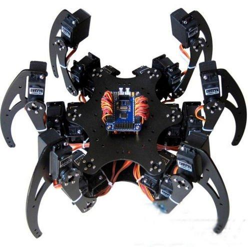 QX Electronics 1Set Six 3DOF Legs Alum Alloy Hexapod Spider Robot Frame Kit DIY for Arduino by QX Electronics (Image #4)