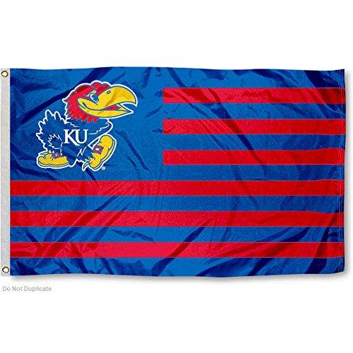 Kansas Jayhawks KU Alumni Nation Stripes Flag