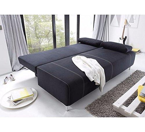Avanti trendstore divano letto con cassettone nero ca 193x90x89 cm shop online divani - Divano letto con cassettone ...